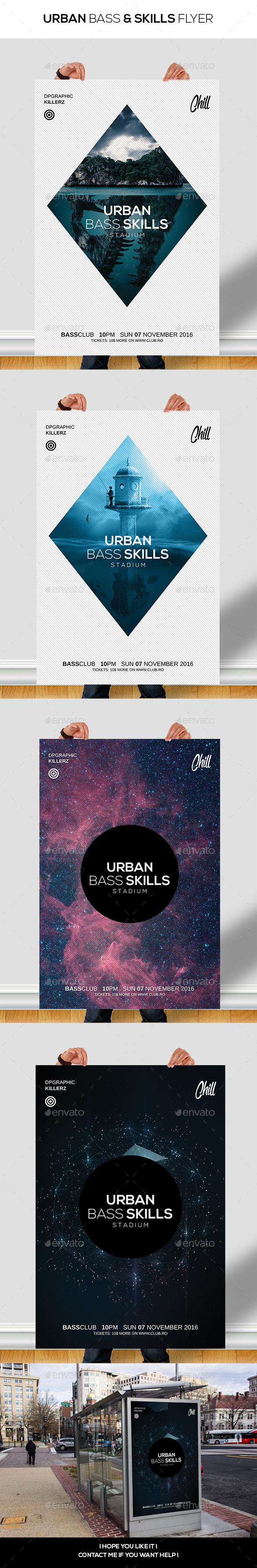 Urban Bass & Skills Flyer / Poster