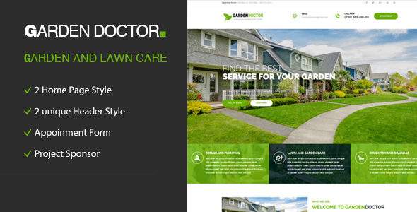 Garden Doctor - Gardening and Landscaping HTML Template
