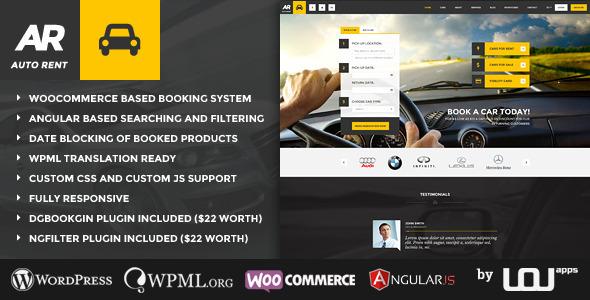 Auto Rent - Car Rental WordPress Theme