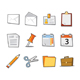Office Icons Fresh Collection - Set 1