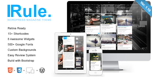 Rule - Retina Responsive WordPress Theme