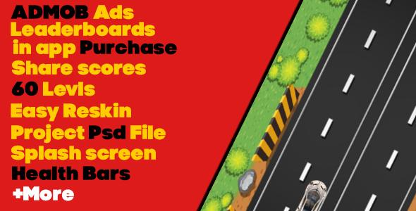 Car racing 2D Admob-android studio-eclips API