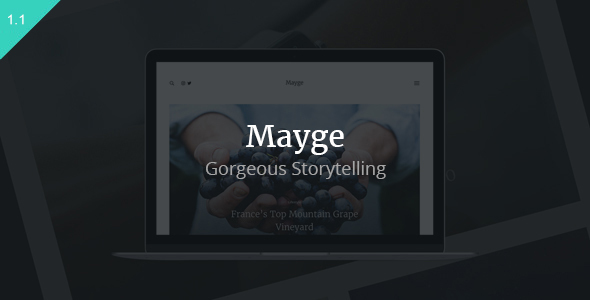Mayge - A Theme for Gorgeous Storytelling