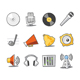 Music Icons Fresh Collection - Set 6 - GraphicRiver Item for Sale