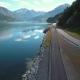 Aerial Footage Road In Norway. Beautiful Nature Norway