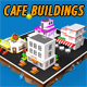 Low Poly Cafe Buildings