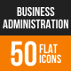 Business Administration Flat Round Icons