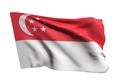 Republic of Singapore flag waving