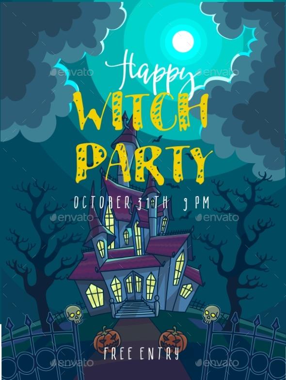 Halloween Party Poster. Halloween Vector