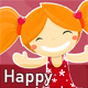 Happy Little Girl - GraphicRiver Item for Sale