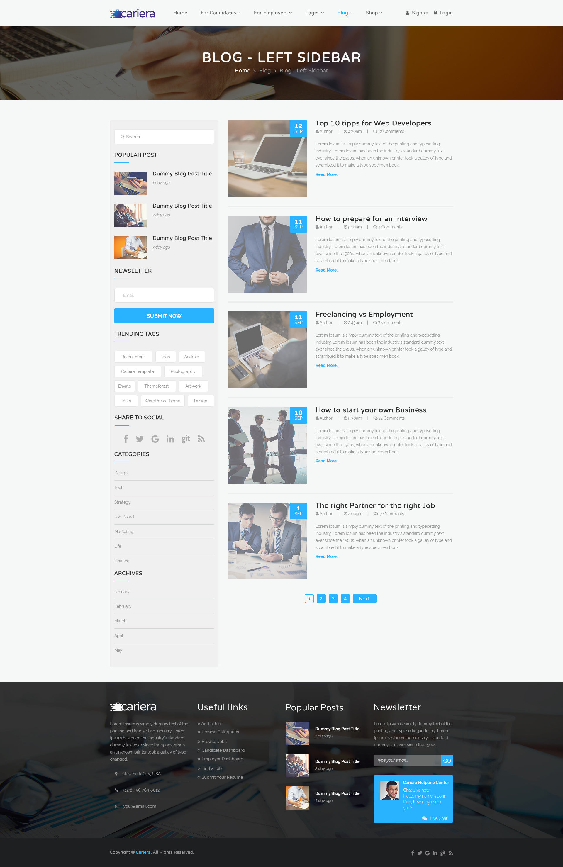 cariera job board psd template by gnodesign themeforest cariera job board psd template