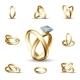 Wedding Diamond Ring Vector Illustration
