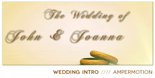 After Effects Project - VideoHive Wedding Intro 666002
