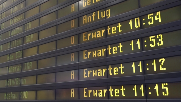 Download Timetable Digital Board At An Airport nulled download