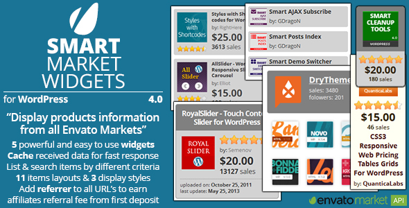 Smart Market Widgets - CodeCanyon Item for Sale