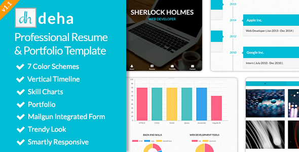 deha - Professional Resume & Portfolio Template