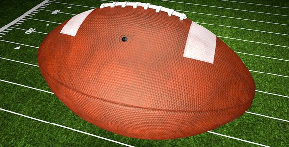 American Football Ball Logo Reveal 4D
