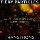 Title Text Fiery Particles Transitions 7 Pack