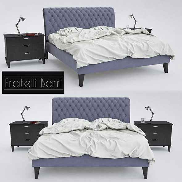 Bed Fratelli Barri - 3DOcean Item for Sale