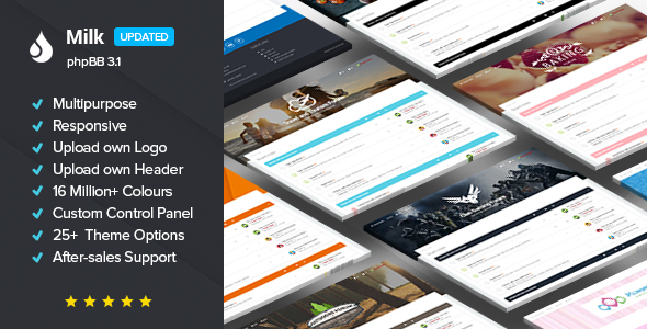 Milk - Multipurpose Responsive phpBB 3.1 & 3.2 Theme