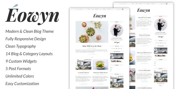 Download Eowyn - A Minimal Responsive WordPress Blog Theme