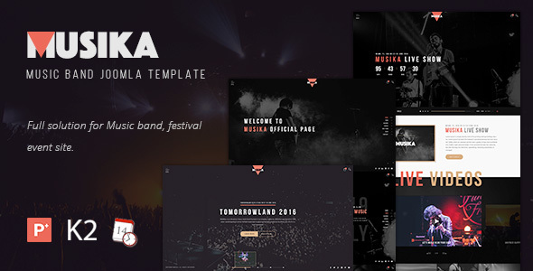 Musika - Music Festival & Band Joomla Template