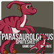 Parasaurolophus Dinosaurus Sprite Character