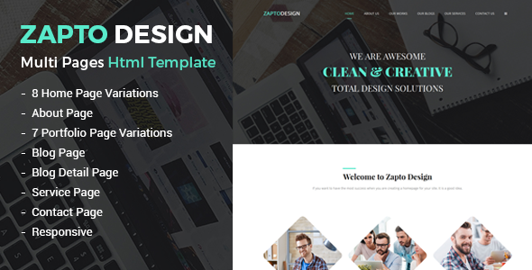 Zapto - Multi-Purpose Responsive HTML Template
