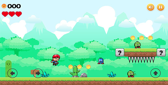 Download Mad Boy Adventures - HTML5 2D Side Scroller Game nulled download