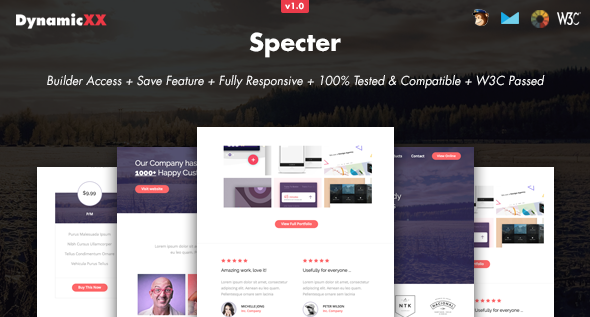 Download Specter - Responsive Email + Online Template Builder nulled download