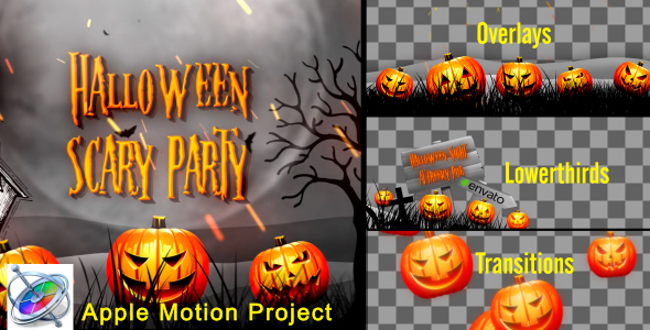 Halloween Teaser Promo Pack - Apple Motion