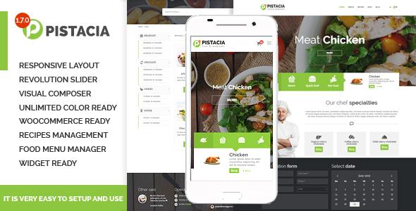 Pistacia - Recipe & Food & Restaurant Responsive WordPress Theme