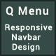 Q Menu - Responsive Navbar Design