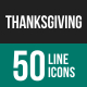 Thanksgiving Line Icons