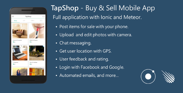Buy & Sell Mobile App - Full Application with Meteor and Ionic.