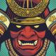 Red Samurai Helmet