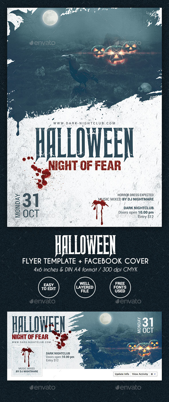 Halloween Party Flyer - 2 formats