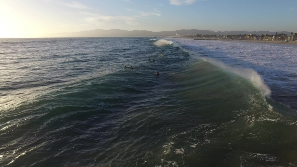 Download Ocean Waves Crashing. Marina Del Rey, California During Sunset nulled download