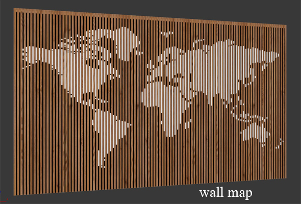 Wall Map - 3DOcean Item for Sale