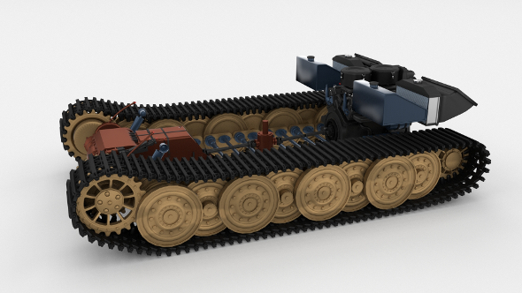 Panzer Tiger Drivetrain - 3DOcean Item for Sale
