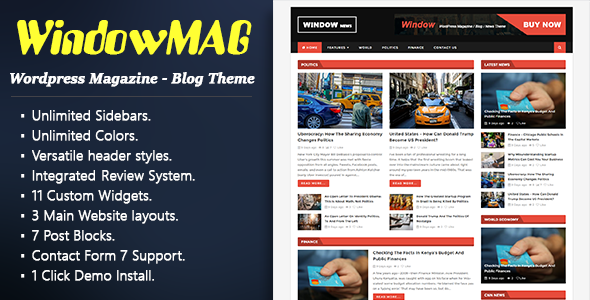 Download WindowMag - Responsive News / Magazine / Blog Theme nulled download