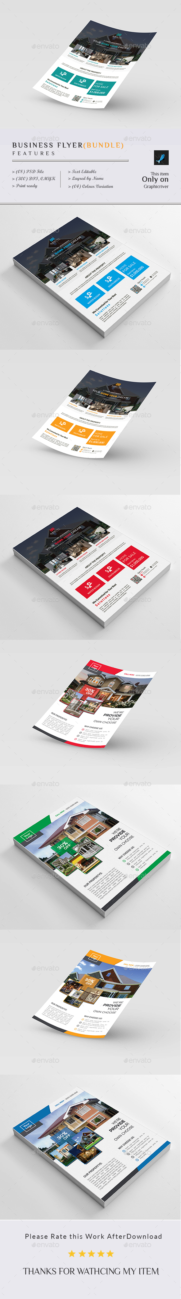 Real Estate Business Flyer(Bundle)