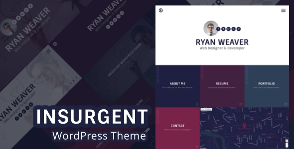 Download Insurgent - Personal Vcard Resume Portfolio WordPress Theme