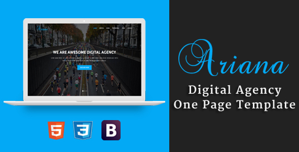 Ariana – Digital Agency One Page Template (Technology) Download