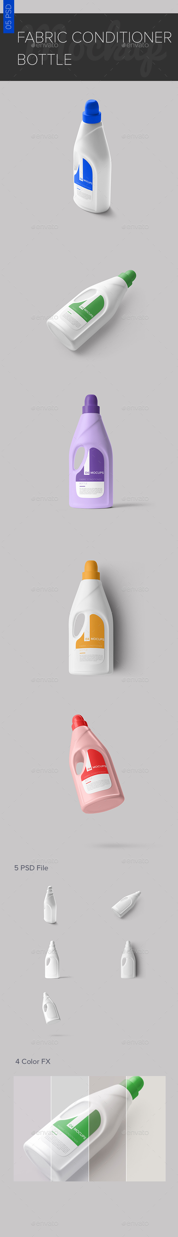 Fabric Conditioner Bottle Mock-ups