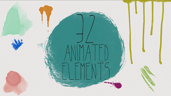 Download 32 Paint Elements Pack nulled download