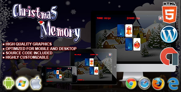 Download Christmas Memory - HTML5 Construct Puzzle Game nulled download