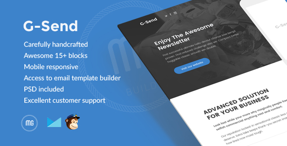 G-Send – Responsive Email + Builder Access (Email Templates)