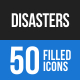 Disasters Blue & Black Icons