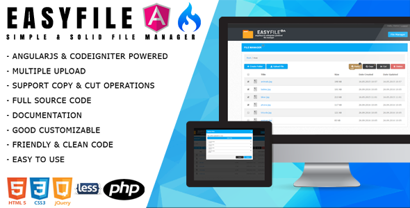Download EasyFile - AngularJS & CodeIgniter File Manager nulled download